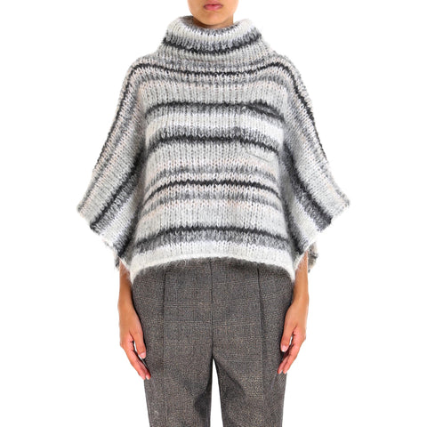 Brunello Cucinelli High Neck Poncho