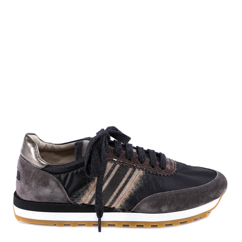 Brunello Cucinelli Distressed Lace Up Sneakers