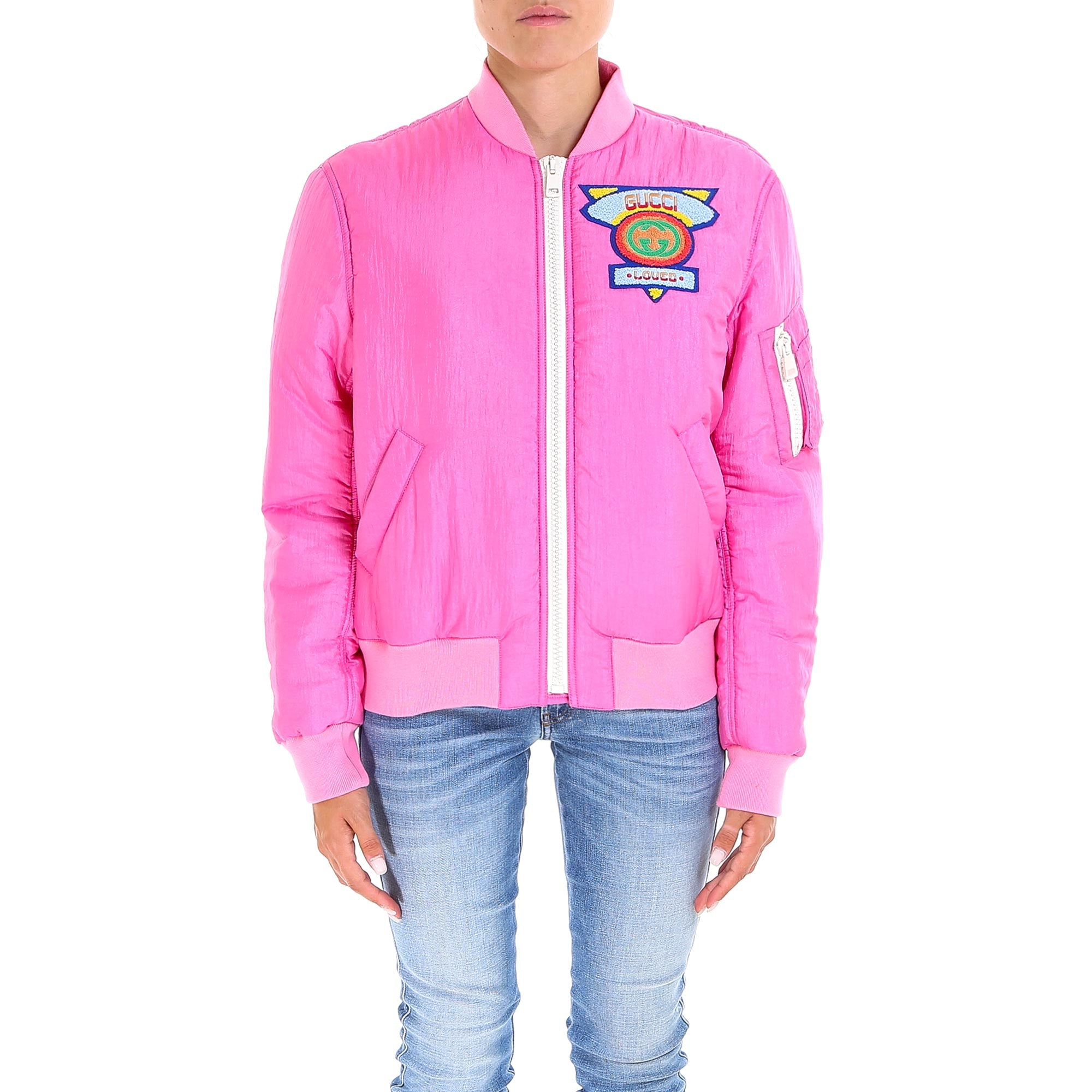 GUCCI GUCCI PATCH BOMBER JACKET