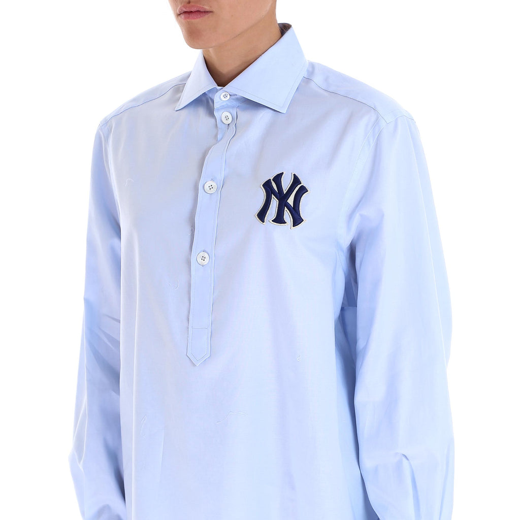 ba5f79074 Gucci NY Yankees Patch Shirt – Cettire