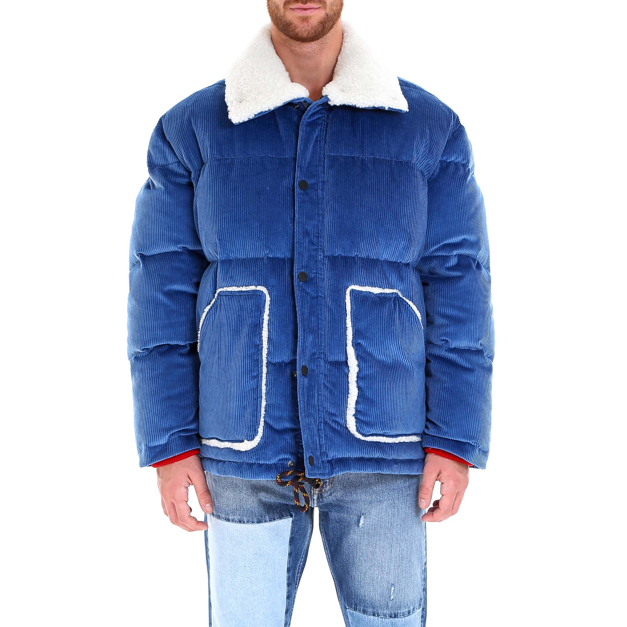 Tommy Hilfiger Corduroy Padded Puffer Jacket In Blue ...