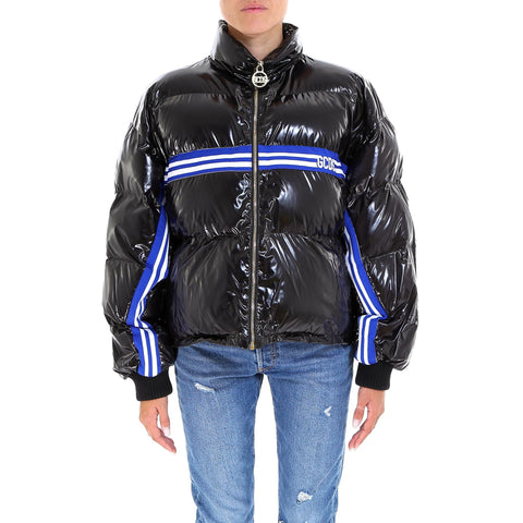GCDS Vinyl Stripe Band Puffer Jacket