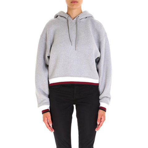 T By Alexander Wang Striped Ribbed Cuff Hoodie
