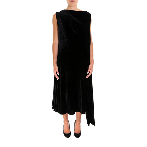 Salvatore Ferragamo Draped Velvet Dress