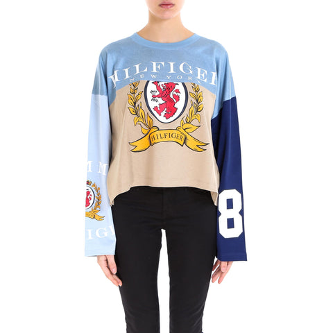 440c34eb Tommy Hilfiger Contrasting Panelled Logo Top
