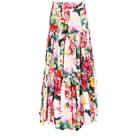 Dolce & Gabbana Flowery Long Skirt