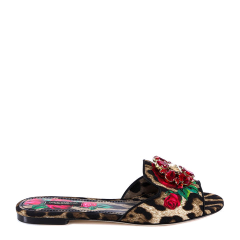 Dolce & Gabbana Animal Print Slides