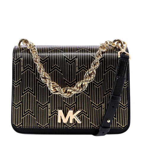 Michael Kors Logo Strap Chain Shoulder Bag