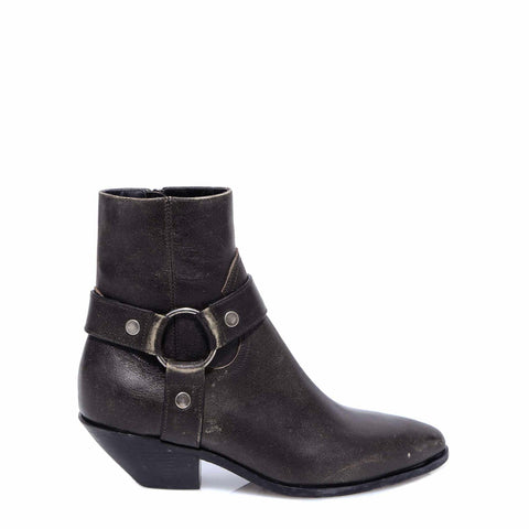 Saint Laurent West Harness Heeled Ankle Boots