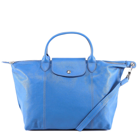 Longchamp Le Pliage Cuir Top Handle M Bag
