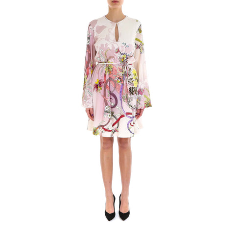 Etro Tie-Front Printed Dress