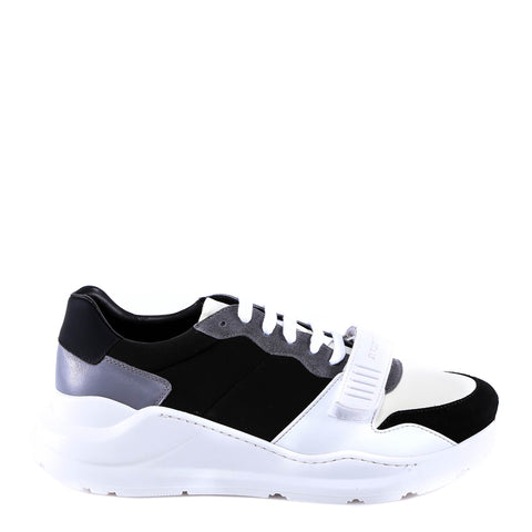 Burberry Contrast Lace-Up Sneakers