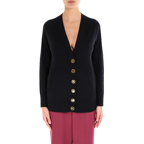 Burberry Enamelled Buttoned Cardigan