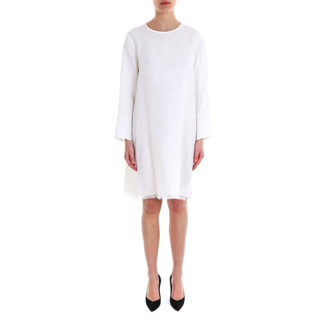 'S Max Mara Frayed Hem Dress