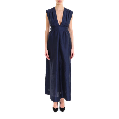 'S Max Mara Sleeveless Tie Waist Dress