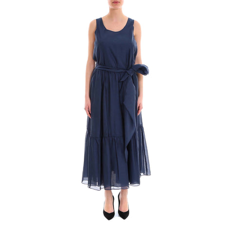 'S Max Mara Waist Tie Sleeveless Dress