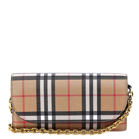 Burberry Checked Wallet On Chain