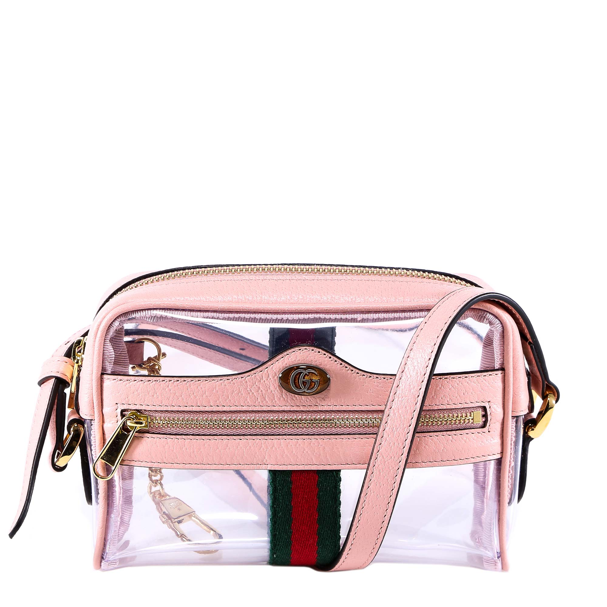 ce6de1d63240 Gucci Ophidia Mini Transparent Shoulder Bag In Pink | ModeSens