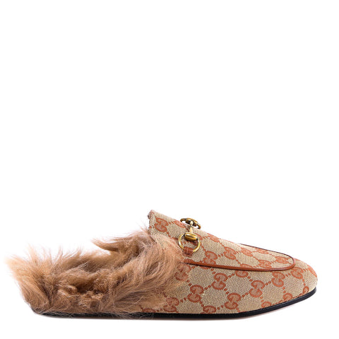 Gucci Princetown GG Canvas Slippers