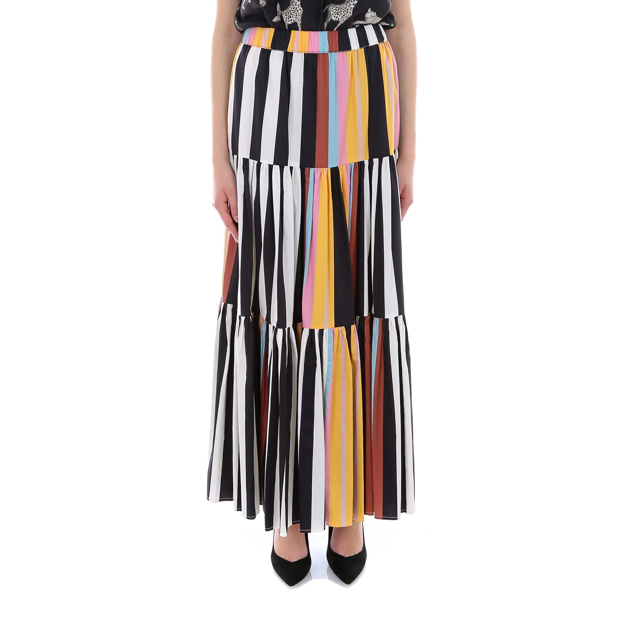 Tory Burch Skirts TORY BURCH STRIPED PANELLED SKIRT