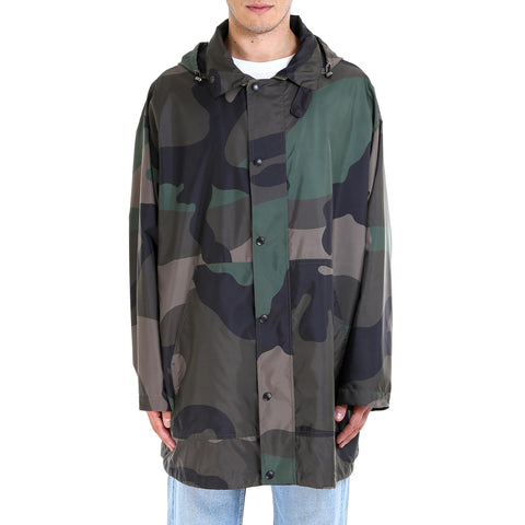 Valentino Camouflage Hooded Jacket