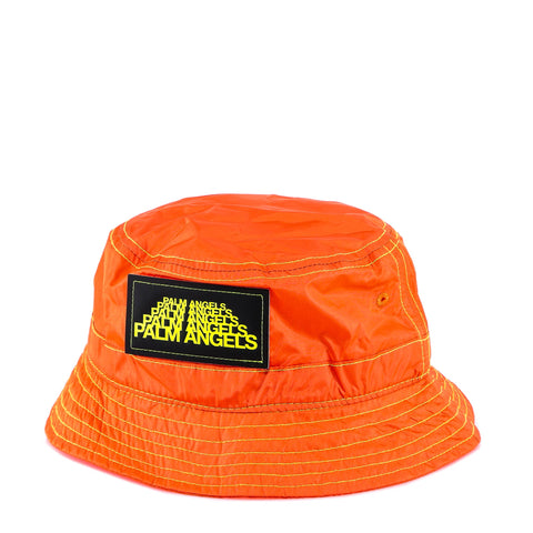 Palm Angels Quilted Logo Bucket Hat