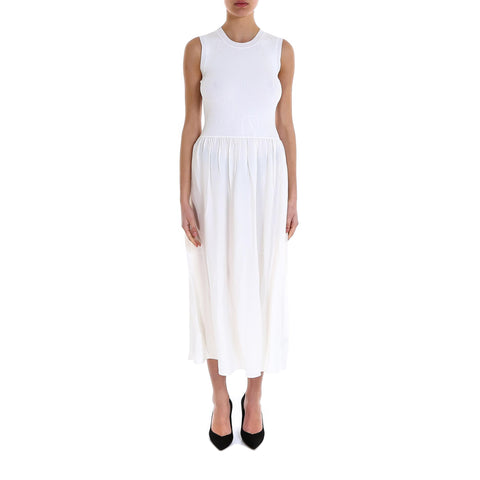 Theory Combo Ribbed-Waist Dress