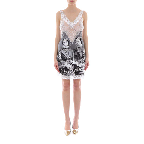 Burberry Victorian Print Lace Detail Slip Dress