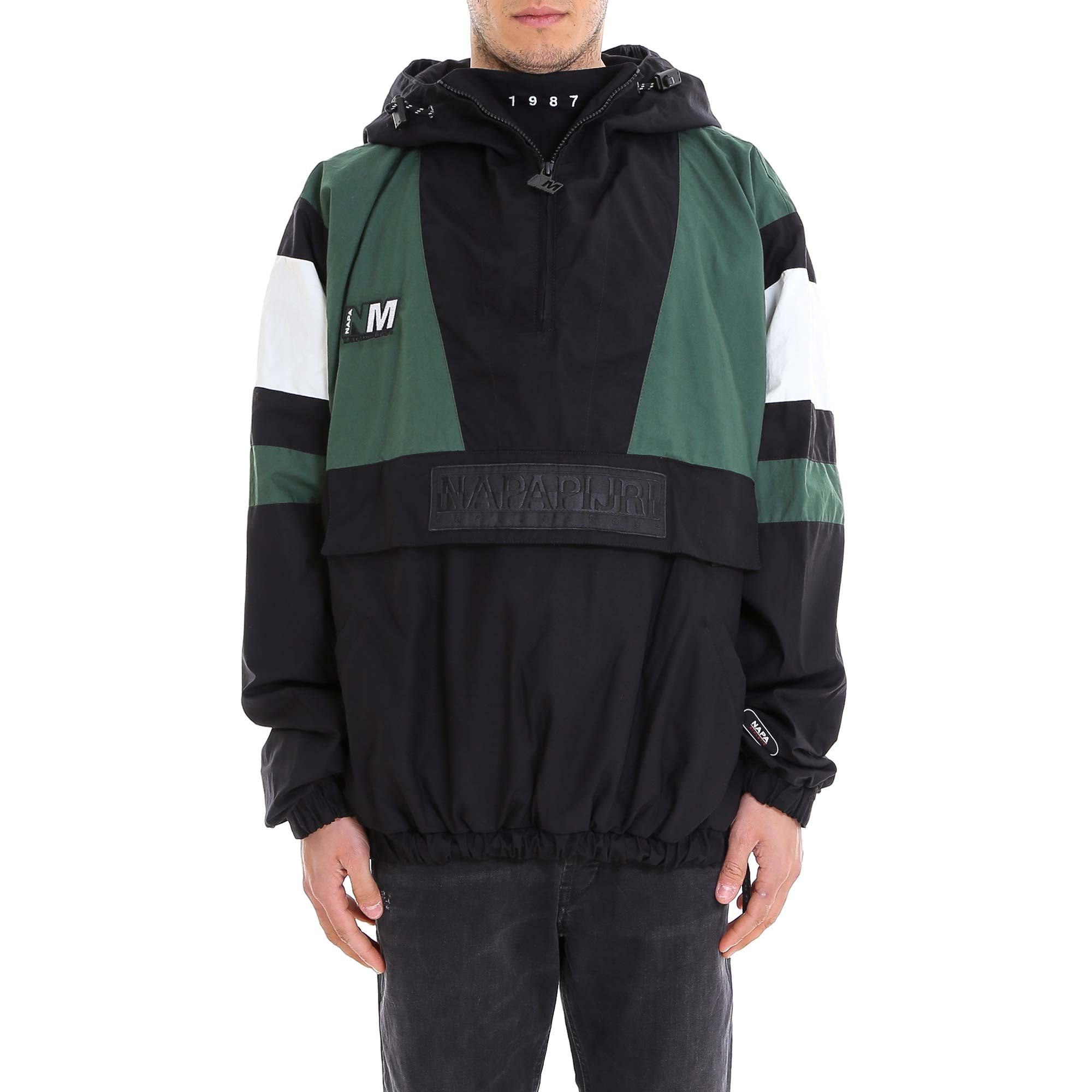 Napa By Martine Rose Tops NAPA BY MARTINE ROSE CONTRASTING PANELLED WINDBREAKER