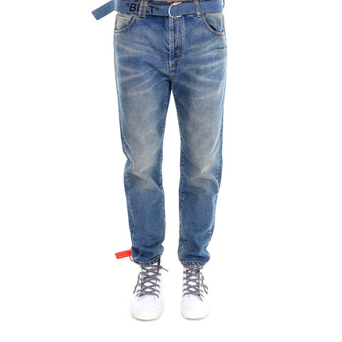 Off-White Belted Jeans