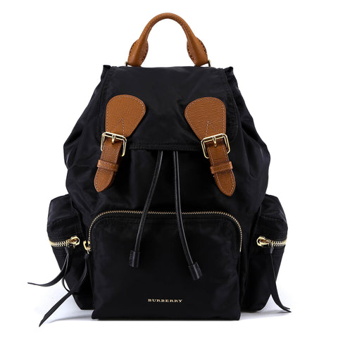 Burberry Logo Zipped Detail Backpack