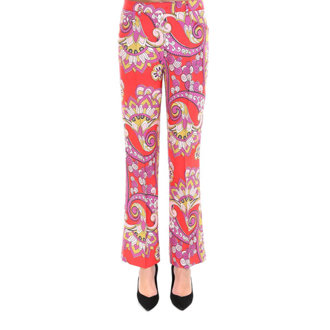 Etro Printed Flare Trousers