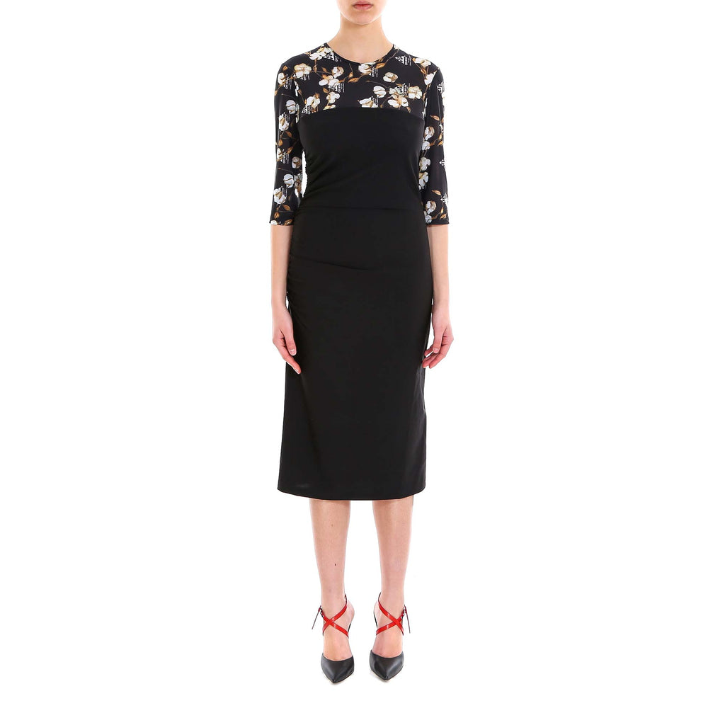 Off-White Printed Flowers Midi Dress