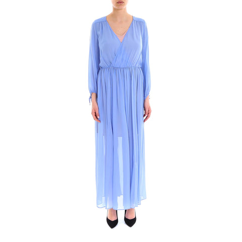 Semi Couture Long Sleeved Pleated Dress