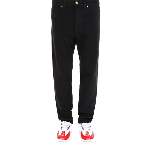 Versace Logo Patch Straight-Leg Jeans