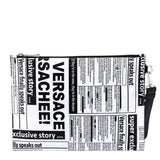 Versace Newspaper Print Clutch Bag