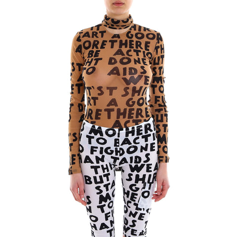 Mm6 Maison Margiela Text Print Bodysuit