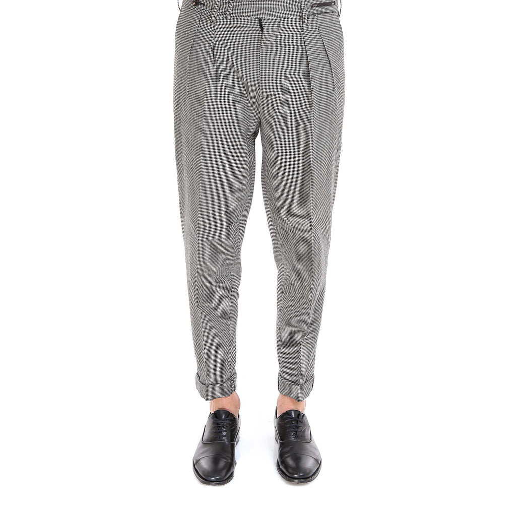 Pt01 Checked Print Trousers