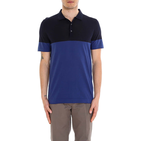 Corneliani Contrast Panelled Polo Shirt