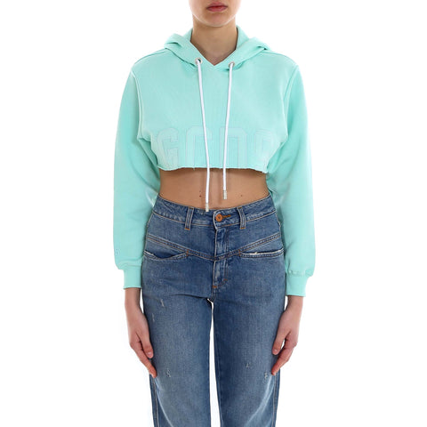 GCDS Cropped Hooded Sweater