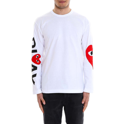 Comme Des GarÇons Play Almond Eye Long Sleeve T-Shirt