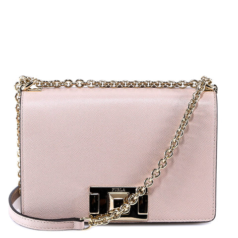 Furla Textured Chain Shoulder Bag
