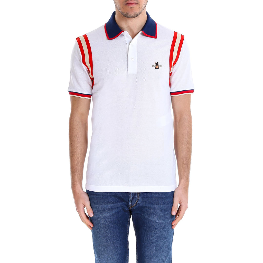 24902560 Gucci Bee Detail Polo Shirt – Cettire