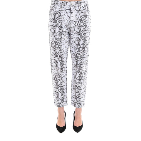 T By Alexander Wang Reptile Print Trousers