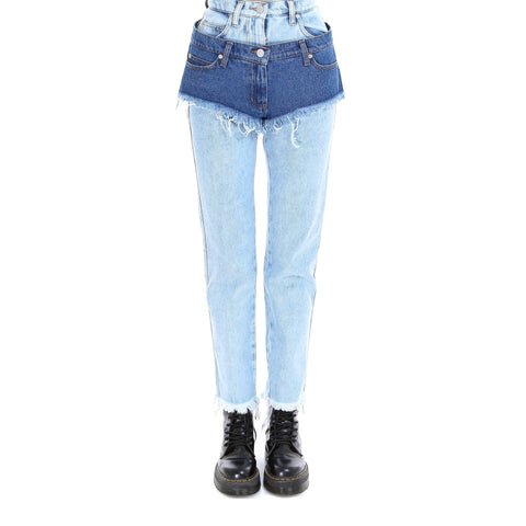 Natasha Zinko Layered High-Waisted Jeans