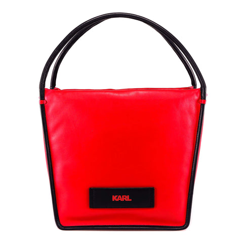 Karl Lagerfeld Logo Plaque Tote Bag