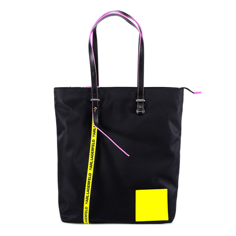 Karl Lagerfeld Logo Patch Tote Bag