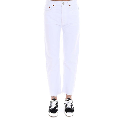 RE/DONE High Rise Stove Pipe Cropped Jeans