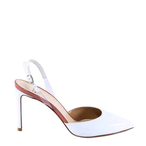 Francesco Russo Patent Leather Slingbacks