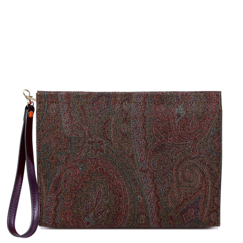 Etro Paisley Printed Clutch